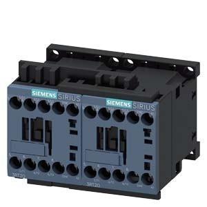 Forgásirányváltó mágneskapcsoló, 4Kw/9A (400V, AC3), 110V AC 50 Hz vezerlés, csavaros csatlakozás, S00 méret, Sirius (Siemens 3RA2316-8XB30-1AK6)
