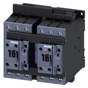 Forgásirányváltó mágneskapcsoló, 18,5Kw/40A (400V, AC3), 20..33V AC/DC 50/60 Hz vezerlés, csavaros csatlakozás, S2 méret, Sirius (Siemens 3RA2335-8XB30-1NB3)