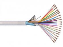 Riasztókábel (Li-XY(St)Y) 2x0,75+10x0,22 mm2 fehér sodrott réz PVC szigetelésű 300V  kábel