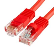 Szerelt patch kábel FTP Cat5e 0,5 m PVC PIROS