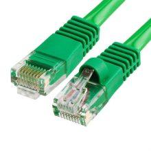 Szerelt patch kábel FTP Cat5e 0,5 m PVC ZÖLD