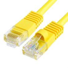 Szerelt patch kábel FTP Cat5e 0,5 m PVC SÁRGA
