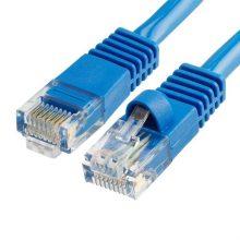Szerelt patch kábel FTP Cat5e 0,5 m PVC KÉK