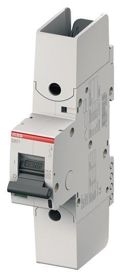 ABB S801S-B80-R kismegszakító 1P, 80A, B karakterisztika, 50kA, kábelsaru bekötés (ABB 2CCS861002R0805, S801SB80R)