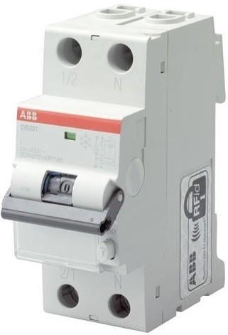 ABB 2CSR275140R0165 áramvédős kismegszakító (Kombi Fi-relé), 1P+N, B karakterisztika, 16A, 10mA, 10kA, A osztály (ABB DS201 M B16 A10)