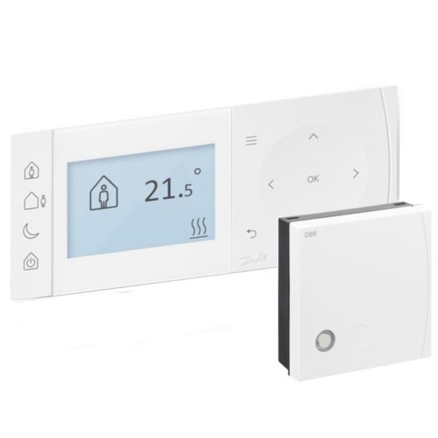 Danfoss TPOne-S 087N7856 heti programozású okos-termosztát, WIFI-s, + vezeték nélküli relével(DBR), digitális szobatermosztát, fehér színben, 230V-os Danfoss TPOne-S ( 087N7856 )