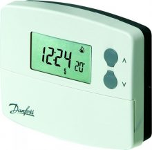 Danfoss TP5001B 087N791001 heti programozású digitális szobatermosztát, fehér színben, elemes működéssel,  Danfoss TP5001B  (087N791001)