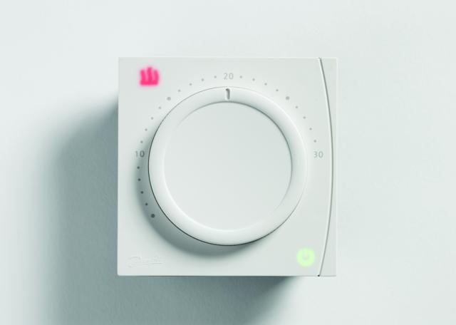 Danfoss RET1000B 087N6451, nem programozható, mechanikus szobatermosztát, fehér színben, elemes működéssel, Danfoss RET1000B (087N06451)