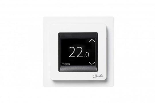 Danfoss 088L0128 Touch - érintőképernyős, kombinált levegő+padlóhőmérséklet szabályozó max 3,6 kW