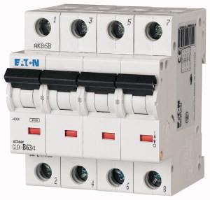 Eaton 247955 CLS4-B63/4 Kismegszakító. 4P, 63A, B karakterisztika, 4,5kA