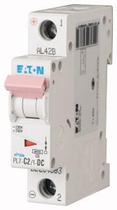 Eaton 264883 PL7-C2/1-DC Kismegszakító. 1P, 2A, C karakterisztika, 10kA