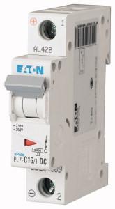 Eaton 264889 PL7-C16/1-DC Kismegszakító. 1P, 16A, C karakterisztika, 10kA