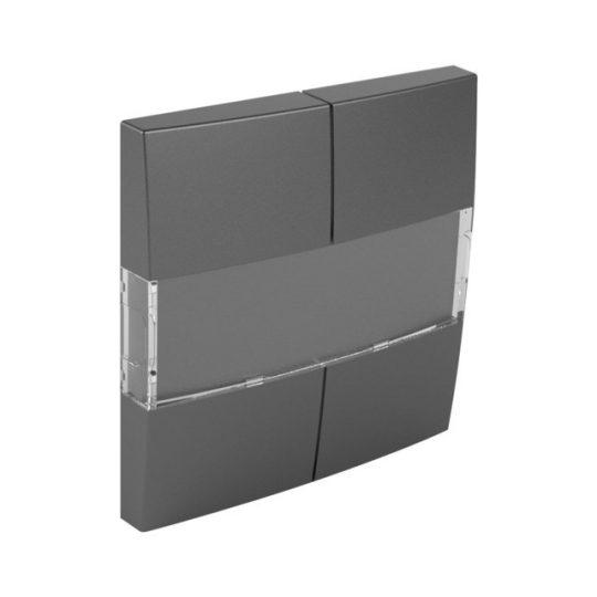 Efapel Logus90 90600 TIS billentyű négypólusú kapcsolóhoz szürke (Efapel 90600 T IS)