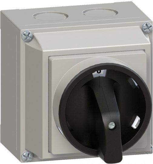 Ganz KKML0-20-6002 lakatolható, tokozott 20 A-es BE-KI kapcsoló IP65, 3P