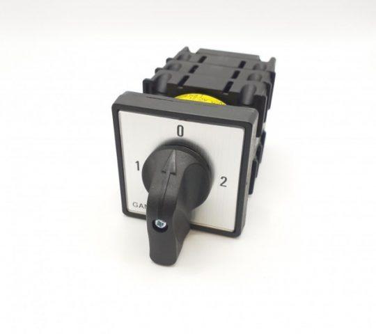 Ganz KK0-20-9006 kézikapcsoló 20A-es 1-0-2 állás, átkapcsoló, 3 pólus