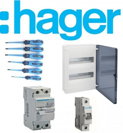 Hager lakossági energiaelosztás korszerűsítési csomag / csavarhúzó készlettel