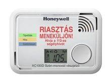 Honeywell XC100D-HU-A ( ÚJ TÍPUS ) szén-monoxid vészjelző készülék, okostelefonnal kiolvasható adatok, multifunkciós CO. kijelzővel, beépített elemmel, 10 év élettartammal és jótállással.