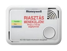 Honeywell XC100-HU-A ( ÚJ TÍPUS ) szén-monoxid vészjelző készülék, okostelefonnal kiolvasható adatok, figyelemfelkeltő riasztási üzenet, beépített elemmel, 10 év élettartammal és jótállással.