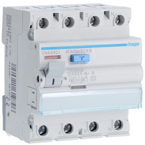 Hager CNA440J Fi-relé, 4P, 40A, 100mA, S