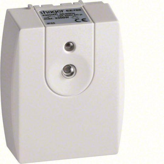Hager EE702 Alkonykapcsoló, 1Z, 16A, 230V, falon kívüli, IP55, 2-1000 Lux