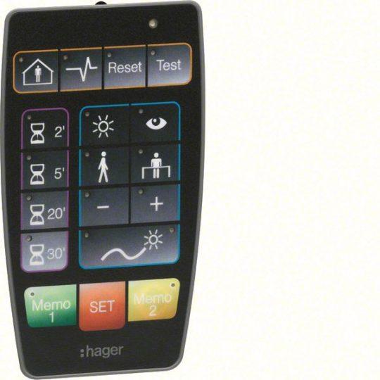 Hager EE807 IR konfigurálható távírányító jelenlét-érzékelőkhöz