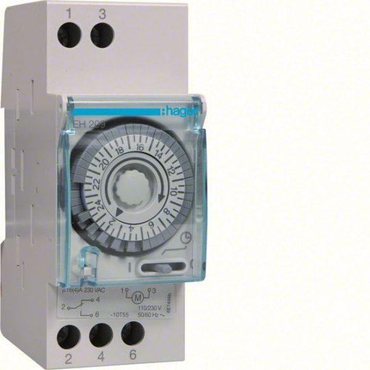 Hager EH209 Analóg napi kapcsolóóra, 1 váltó, 16A, 30perc/kapcsolás