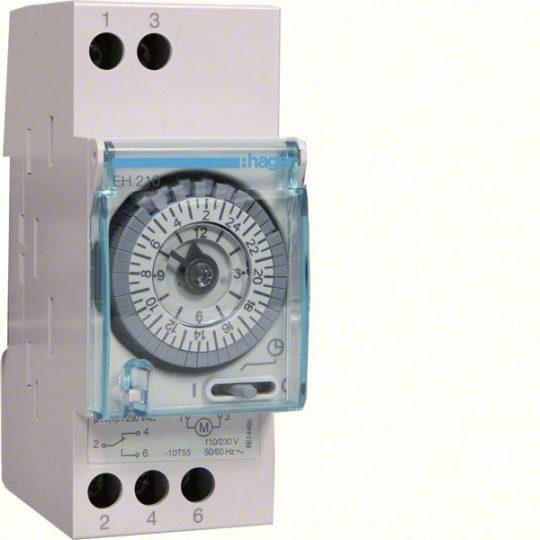 Hager EH210 Analóg napi kapcsolóóra, 1 váltó, 16A, 30perc/kapcsolás