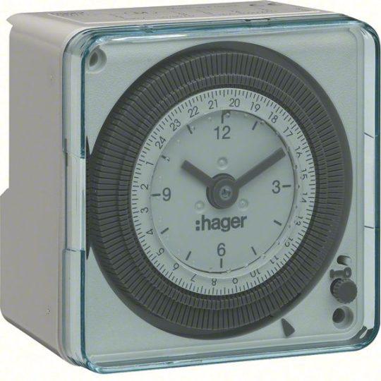 Hager EH712 Analóg kompakt napi kapcsolóóra, 1Z, 16A, 20perc/kapcsolás