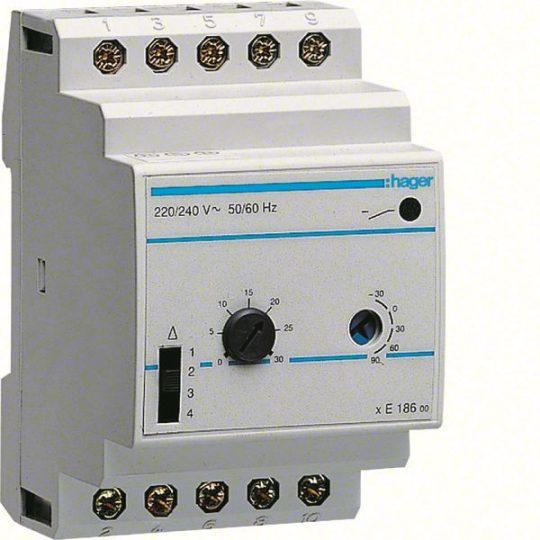 Hager EK186 Moduláris termosztát, elosztóba építhető, 1 váltó, 2A, 230V