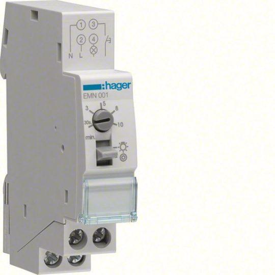 Hager EMN001 Lépcsőházi automata, 16A, 1Z, újraindítható