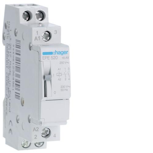 Hager EPE520 Impulzusrelé, 2Z, 16A, 230V AC / 110V DC