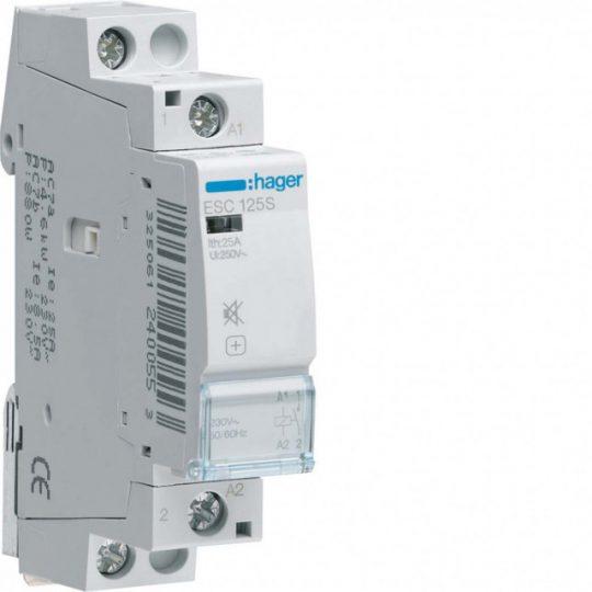 Hager ESC125S Csendes mágneskapcsoló 1Z 25A 230V AC 50 Hz