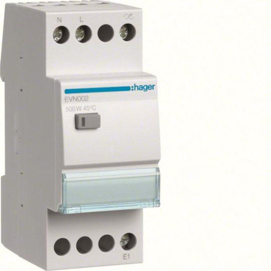Hager EVN002 Dimmer, univerzális, 500W, LED-ekhez is 100W, terhelésfelismeréssel