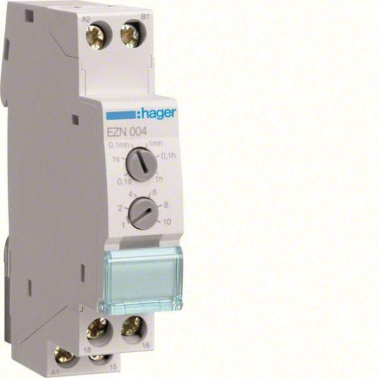 Hager EZN004 Időrelé, impulzusadó, 1 váltó, 10A-230V AC, 12-48V DC, 24-230V AC