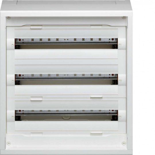 Hager FD32DN Vega D, 3 soros, falon kívűli elosztó, teljesen beépített, ajtó nélkül, 300mm üres hely (2 sor),