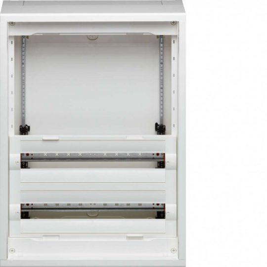Hager FD42AN Vega D, 4 soros, falon kívűli elosztó, félig előszerelt, ajtó nélkül, 300mm üres hely (2 sor), 75