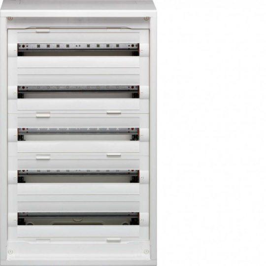 Hager FD52DN Vega D, 5 soros, falon kívűli elosztó, teljesen beépített, ajtó nélkül, 300mm üres hely (2 sor),