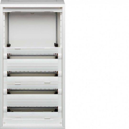 Hager FD62AN Vega D, 6 soros, falon kívűli elosztó, félig előszerelt, ajtó nélkül, 300mm üres hely (2 sor), 10