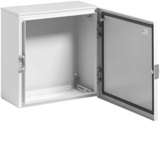 Hager FL108A Orion Plus fémszekrény, IP65, teli ajtós, 400x400x200mm