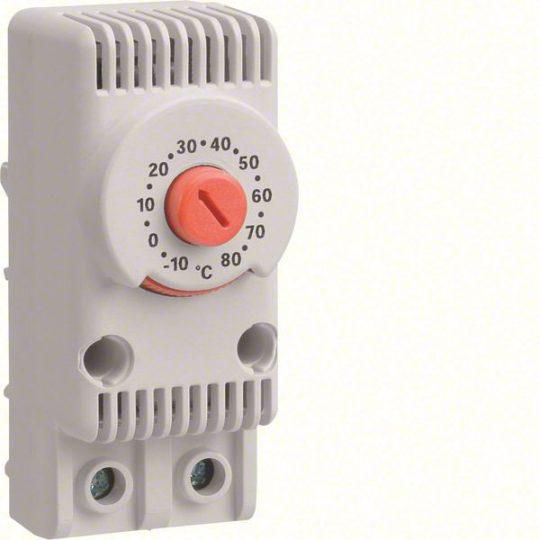 Hager FL258Z Termosztát fűtéshez, 1Z, 10A-230V AC, -10…+80°C 29x68x45mm, IP20