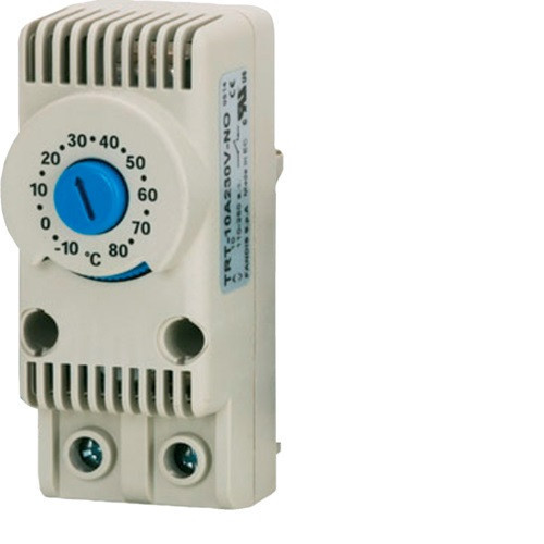 Hager FL259Z Termosztát ventilátorhoz, 1Ny, 10A-230V AC, -10…+80°C 29x68x45mm, IP20