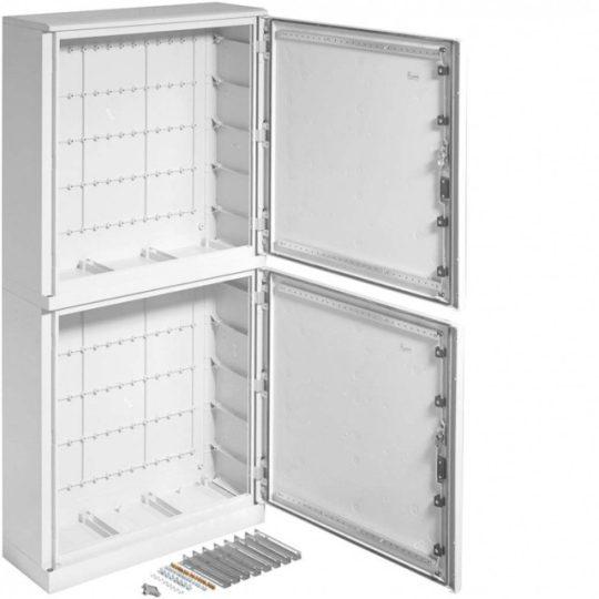 Hager FL356B Orion Plus összeépített (750+750) poliészter szekrény, IP65, 1750x800x300 lábazattal, ajtó nélkül