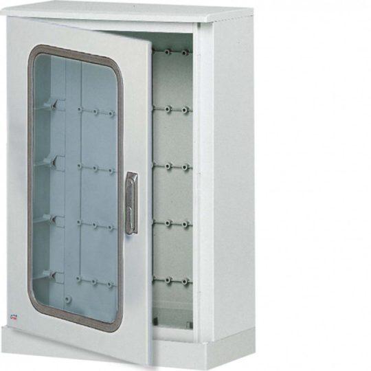 Hager FL527B Műanyag állószekrény lábazatttal, átlátszó ajtós, 1200x850x300, IP65