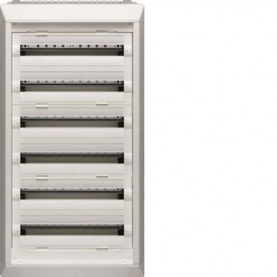 Hager FU62DN Vega D, 6 soros, süllyesztett elosztó, teljesen beépített, ajtó nélkül, 144 modul, 1106x550x110,