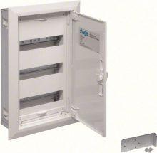 Fém mezős elosztó, 36 modul, 3 sor, 553x353x110mm, teli ajtóval, IP30, süllyesztett, Univers (Hager FW31US2)