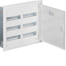Fém mezős elosztó, 72 modul, 3 sor, 553x603x110mm, teli ajtóval, IP30, süllyesztett, Univers (Hager FW32US2)