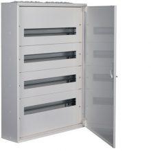 Fém mezős elosztó, 96 modul, 4 sor, 791x571x150mm, teli ajtóval, IP30, falon kívüli, Univers (Hager FW424WT)