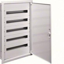 Fém mezős elosztó, 120 modul, 5 sor, 992x622x121mm, teli ajtóval, IP30, süllyesztett, Univers (Hager FW524FT)
