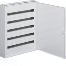 Fém mezős elosztó, 120 modul, 5 sor, 941x571x150mm, teli ajtóval, IP30, falon kívüli, Univers (Hager FW524WT)