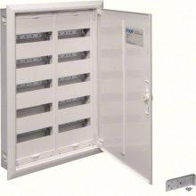 Fém mezős elosztó, 120 modul, 5 sor, 853x603x110mm, teli ajtóval, IP30, süllyesztett, Univers (Hager FW52US2)